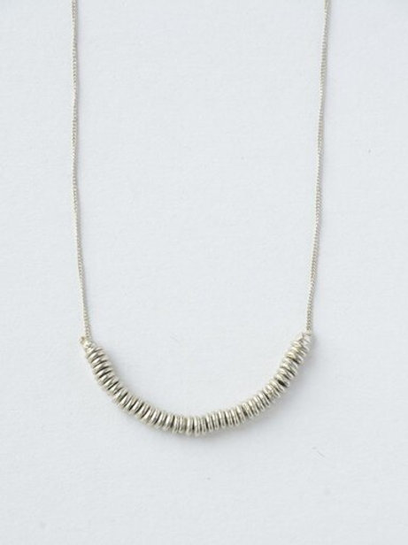 Delicate Disks Brass Necklace