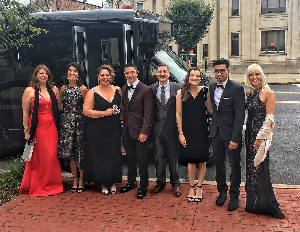 """The """"World of Roey's Paintbox"""" team en route to the 2017 Emmy® Awards"""