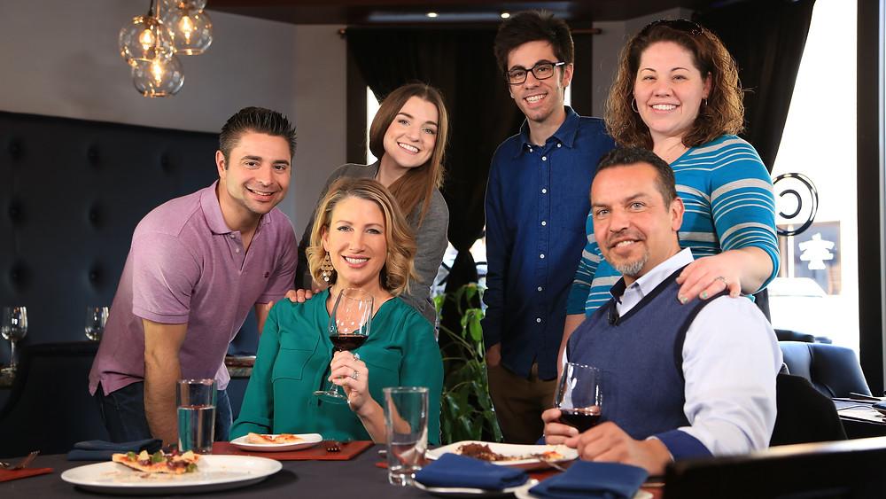 FireRock (Rocky Urich, Hillary Carrigan, Carlo Acerra, & Julia Urich) with LehighValleyTV.com Hosts, Liz Keptner & Paul Luongo