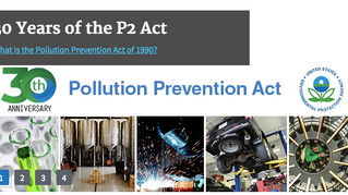 30 Year Anniversary of EPA's Pollution Prevention Week