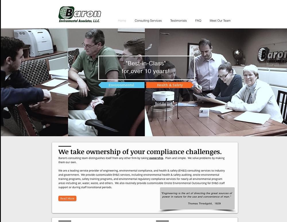 Baron Environmental Associates New Website!