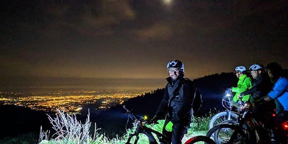 Notturna al Rifugio Salvin in E-bike al chiaro di luna