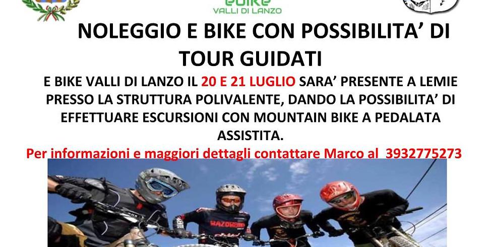 20  Luglio Noleggio E-bike e tour guidati  a Lemie (TO)