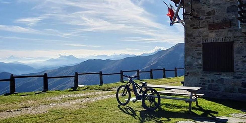 Tour in E-bike al monte soglio e pranzo in rifugio