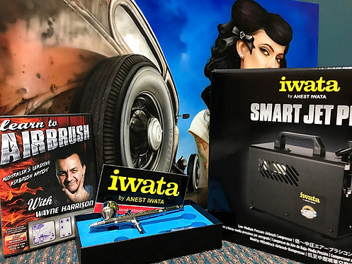 PRO AIRBRUSH starter KIT - IWATA IS875 & HPCP DVD