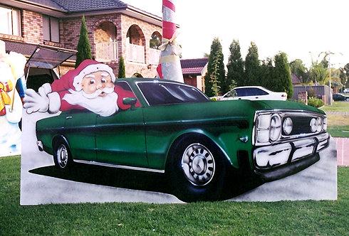 Santa Car Cut out
