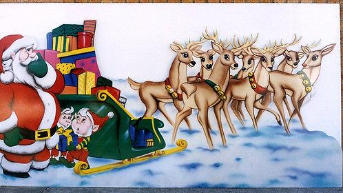 Santa & Reindeer Cut out
