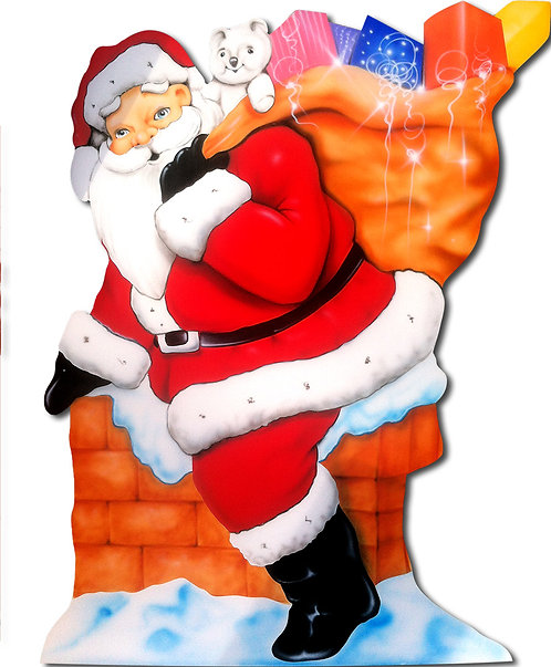Santa & Presents 2 Cutout