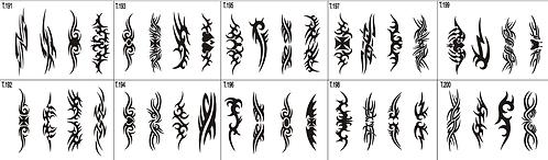 Tattoo Stencil 191-200