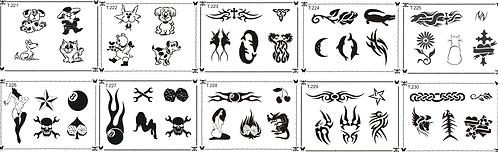 Tattoo Stencil 221-230
