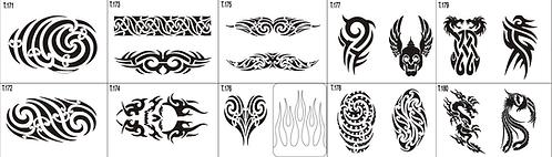 Tattoo Stencil 171-180