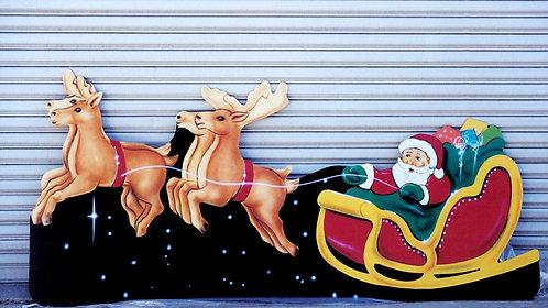 Santa Sleigh Cutout