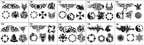 Tattoo Stencil 121-130