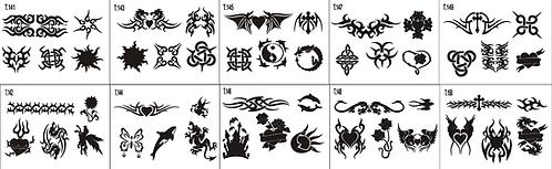 Tattoo Stencil 141-150