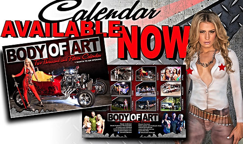 BODY PAINTING CALENDAR (out of date) MAN CAVE