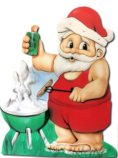 BBQ Santa Cutout