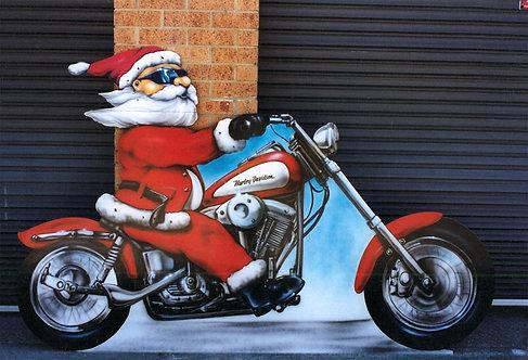 Harley Santa Cutout