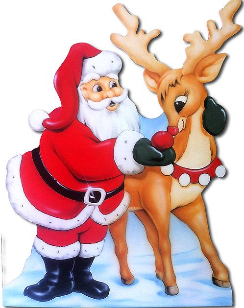 Santa & Reindeer Cutout