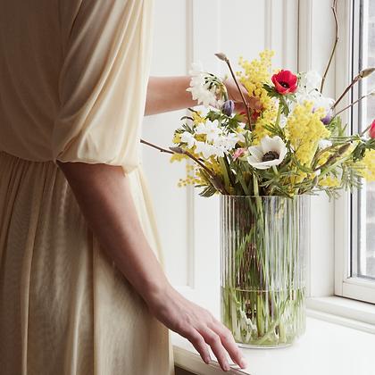 Lyngby Vase Blumenpost Blumen Blumenstrauss Design Klassiker Skandinavien Vase