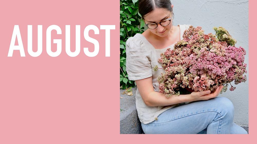 Saisonkalender August Blumenpost Schweiz
