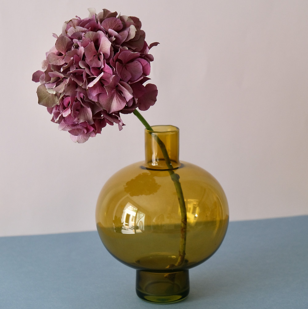 Vase Blumen Blumenvase Trockenblumen Vase Recycling Design Interior