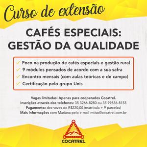 Curso de extensão cafés especiais