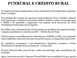FUNRURAL E CRÉDITO RURAL