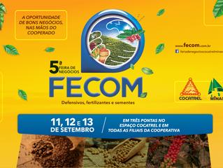 Insumos são comercializados em condições especiais na Fecom, de 11 a 13 de setembro