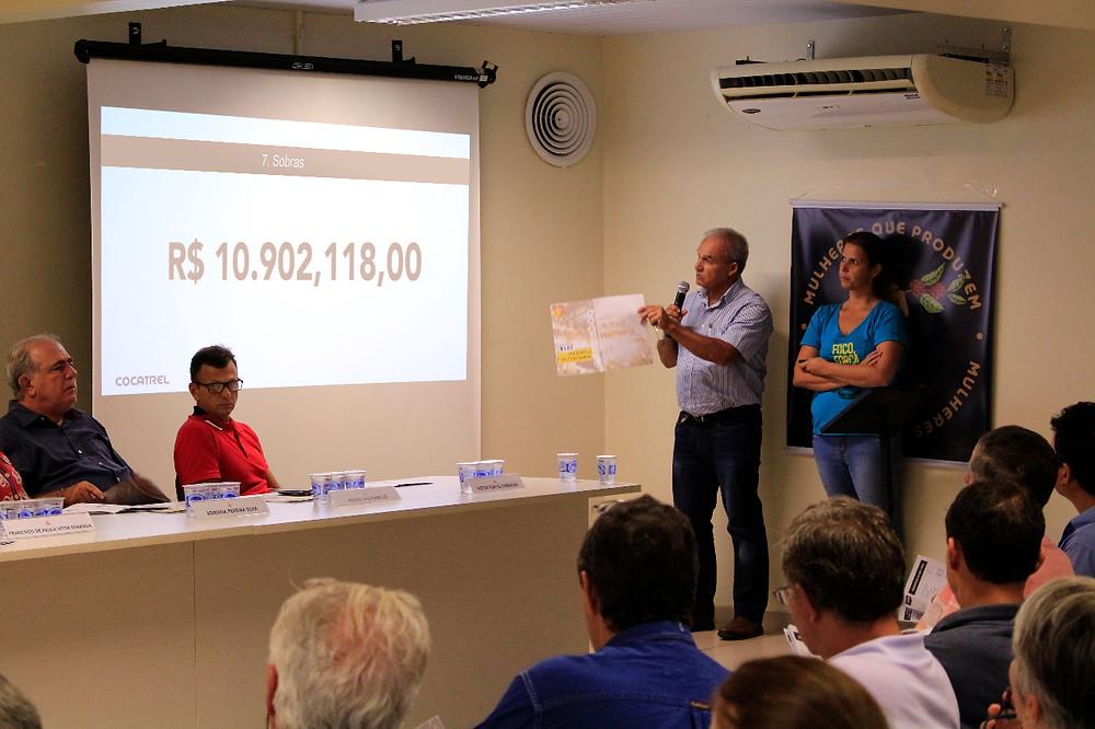 Sobras de aproximadamente 11 milhões de reais é destaque em assembleia realizada pela Cocatrel