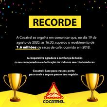 Batemos o recorde da história da Cocatrel!