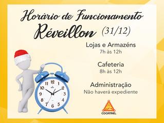 Horário de Funcionamento da Cocatrel - Réveillon