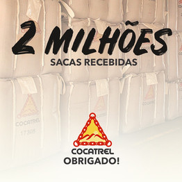 Cocatrel ultrapassa a marca recorde de 2 milhões de sacas recebidas