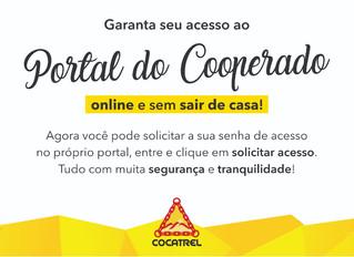 Solicite seu acesso ao Portal do Cooperado sem sair de casa