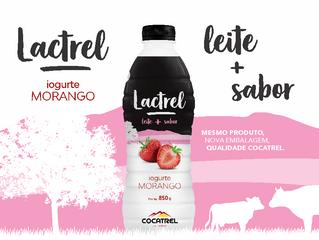 Iogurte de morango Lactrel ganha nova embalagem