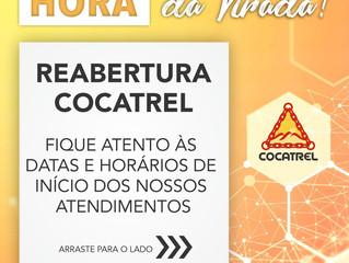 Cronograma de reabertura da Cocatrel