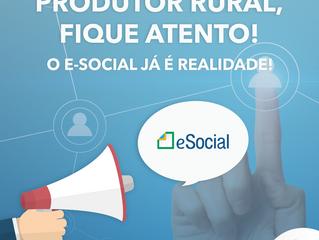 Produtor Rural, fique atento! O e-social já é realidade!