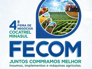 4ª FECOM: tudo pronto para a feira que acontece nos dias 6, 7 e 8  de março