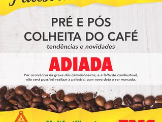 Palestra de tendências e novidades da Colheita do Café foi adiada