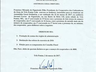 Edital Assembleia Geral Ordinária