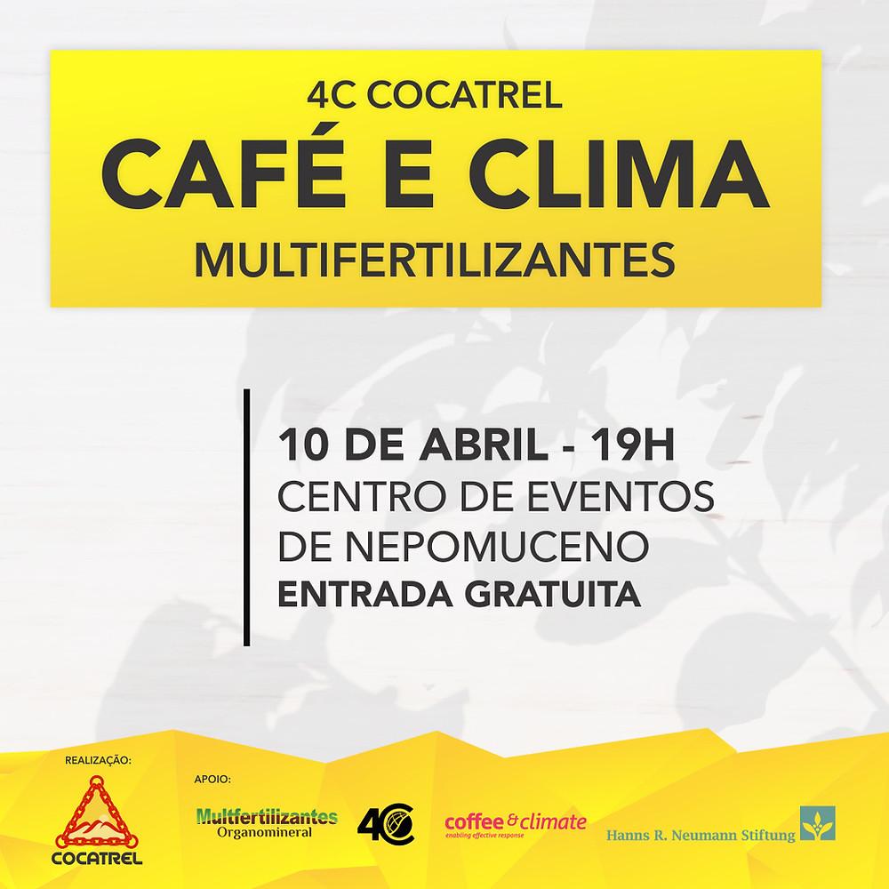 a importância do clima relacionado a diversos aspectos do cafeeiro. Contamos com sua presença!