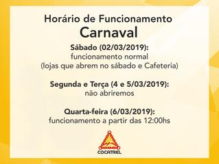 Programe-se para o Carnaval - veja nosso horário de funcionamento