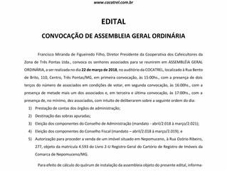 Edital Convocação Assembleia Geral Ordinária