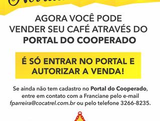 Agora você pode vender seu café pelo Portal do Cooperado!