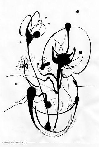 The+dansing+flowers+1,+2014,+41x31.8cm,墨