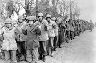 Members of the 106th Division after surrendering on December 19, 2017 during the Battle of the Bulge