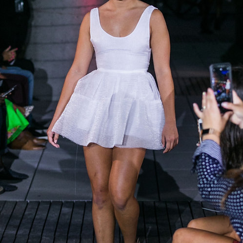 White Organza mini Dress