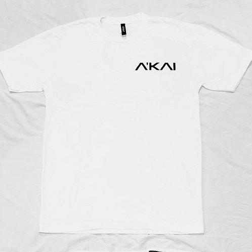 The A'KAI White Logo T