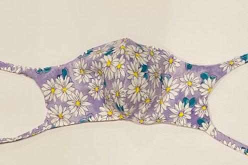 Hand Made Mask-Lavender Daisy Print