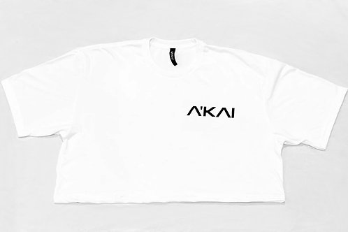 The A'KAI White Crop Logo T
