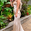 Thumbnail: Champagne Silk Ostrich Angel Feather Gown